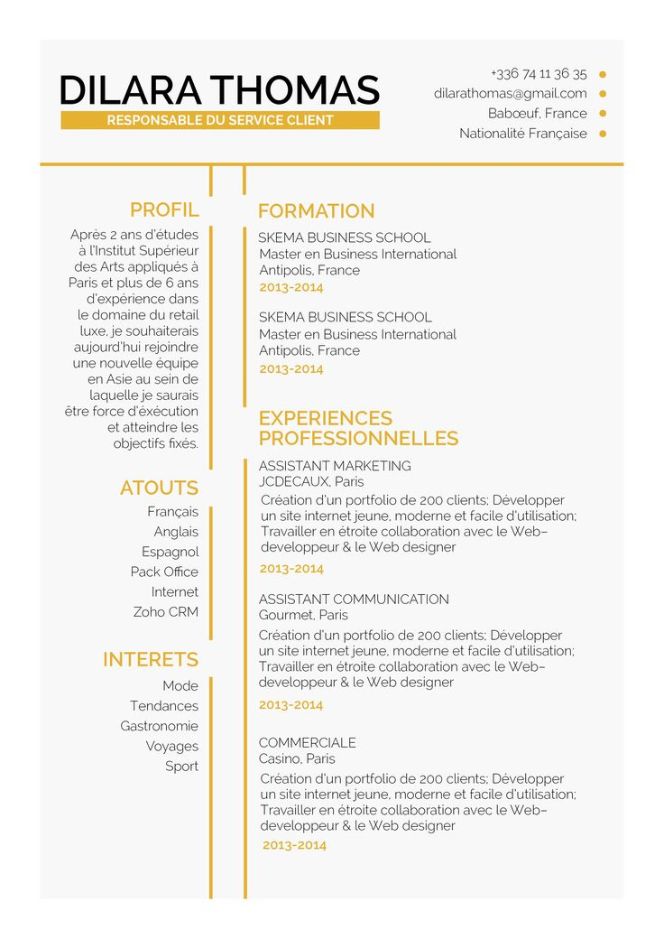 19 best CV Traditionnels images on Pinterest Traditional, Resume - cv document