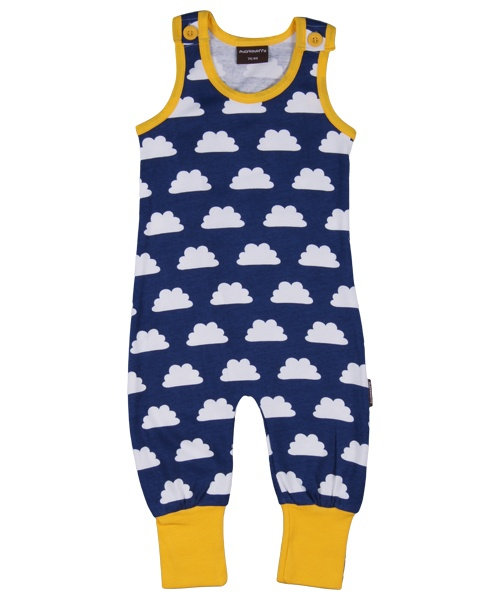 Maxomorra Jumpsuit mouwloos Clouds Blue