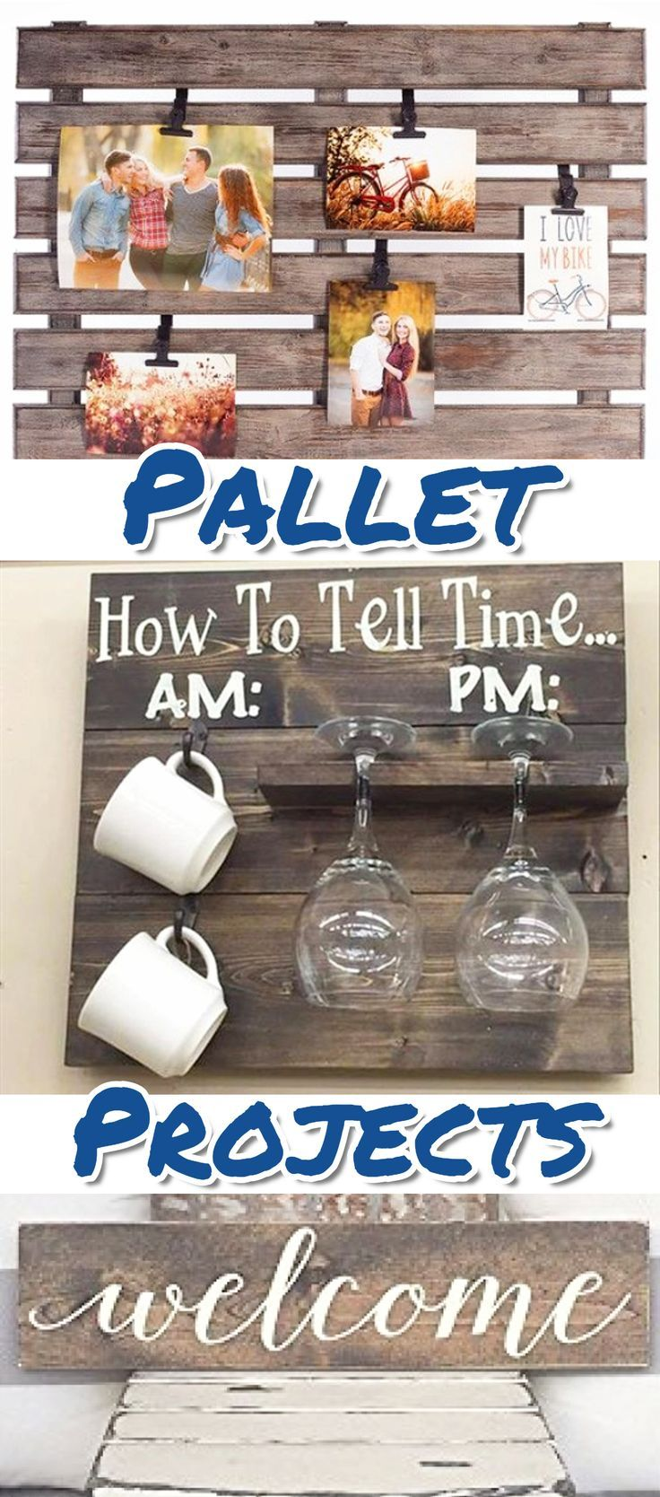 DIY pallet projects  - things to make with old pallet wood.  Fun ideas to repurpose and upcycle! #DiyPalletProjects #palletproject #PalletWood #diy