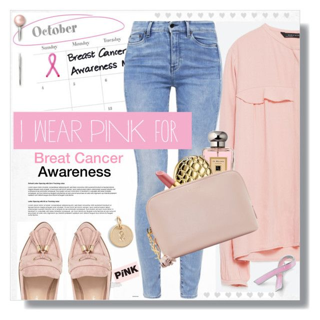 """National Breast Cancer Awareness Month"" by myfashionwardrobestyle ❤ liked on Polyvore featuring Zara, G-Star, Bling Jewelry, River Island, Jo Malone, Estée Lauder, Tory Burch, Yves Saint Laurent, Nashelle and women's clothing"