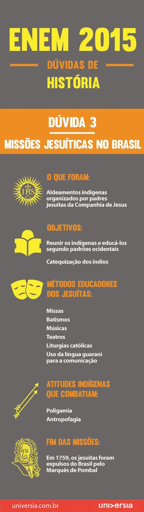 A terceira dúvida mais comum na prova de história do Enem refere-se às Missões Jesuíticas no Brasil. Entenda