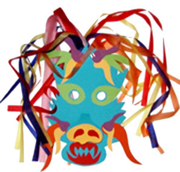 Masque de dragon chinois pour le nouvel an chinois - Tête à modeler