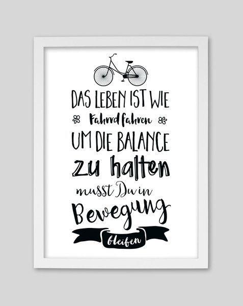 Originaldruck – Fahrrad fahren / Artprint von wh…