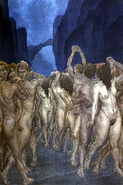 Dante's Inferno by Amos Nattini (1892-1985)