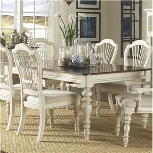 Love this lovely white and dark wood dinning set! I really like the contrast trend in furniture. This one is just perfect for any style!