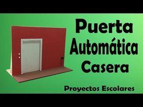 Proyectos - Puerta Automática Casera ( muy fácil de hacer) - YouTube actual working sliding door