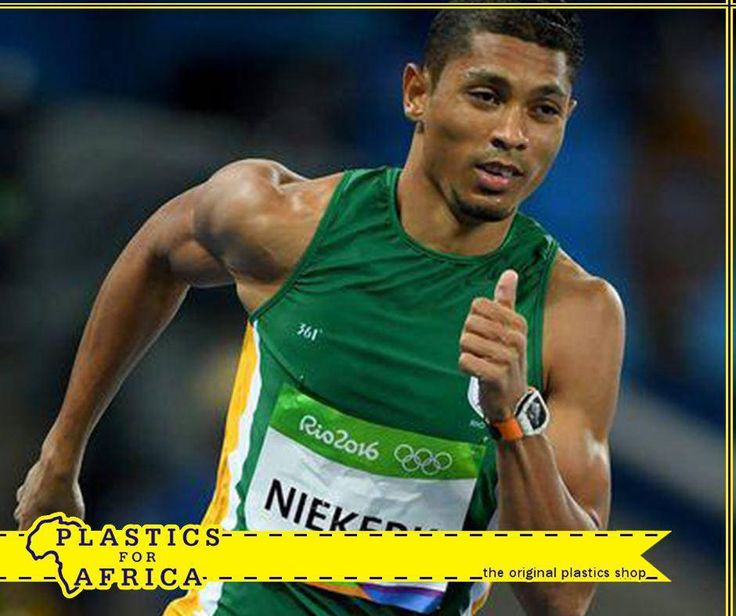 Congratulations to South Africa's Wayde van Niekerk who won gold and set a new WORLD RECORD in the Rio Olympics 2016! #Rio2016 #ProudlySouthAfrican #PlasticsforAfrica