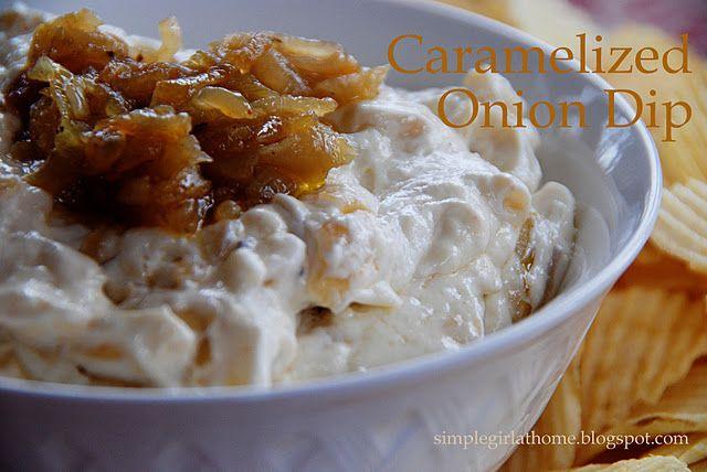 onion dip: Carmel Onions, Onions Dips Recipes, Caramel Onions, Simple Girls, Barefoot Contessa, Widow Onions, Appetizers, Favorite Recipes, Onion Dip