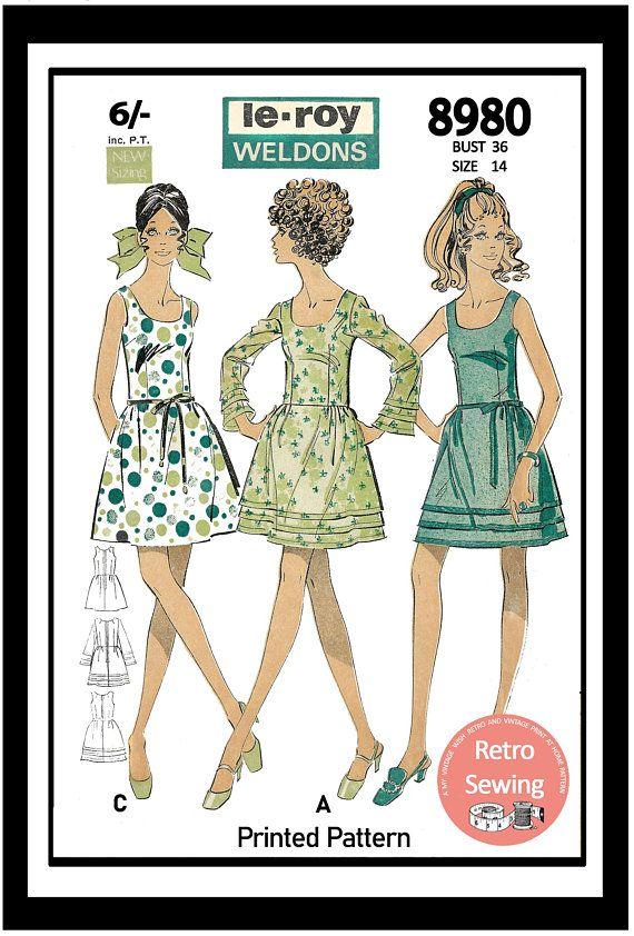 1960s Mini Dress Vintage Sewing Pattern Bust 36 Ins Pdf Etsy Prom Dress Sewing Patterns Vintage Sewing Vintage Sewing Patterns