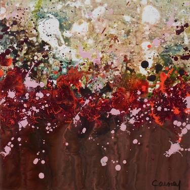 "Saatchi Art Artist Lisa Carney; Painting, ""GeoFlora 04 (Featured Painting)"" #art"