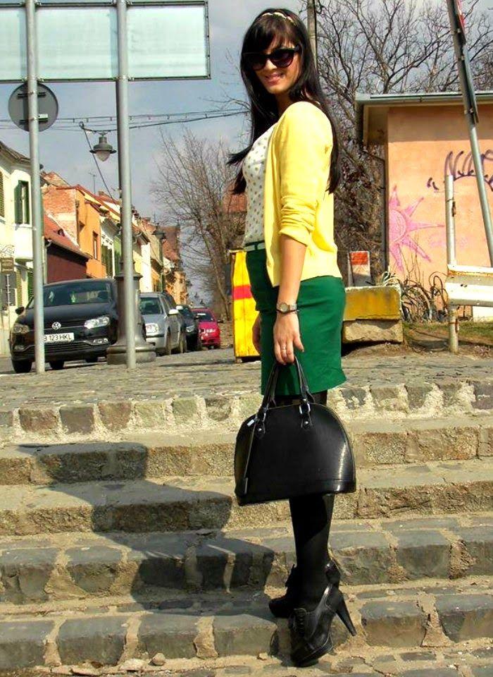 A Alexandra: OOTD: Galben & verde