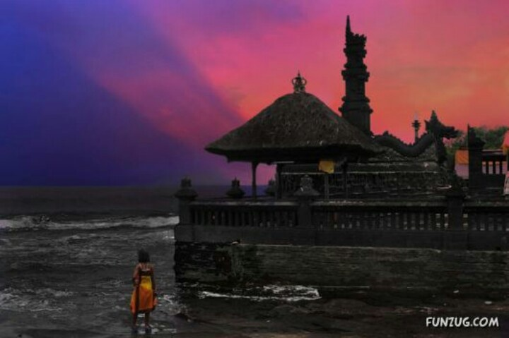 Sea temple in bali