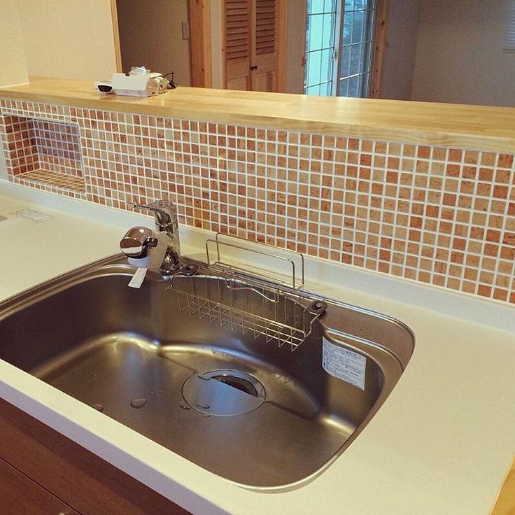 Kitchen/造作キッチン/モザイクタイルのキッチンカウンター/モザイクタイル のインテリア実例 - 2015-02-11 00:08:23