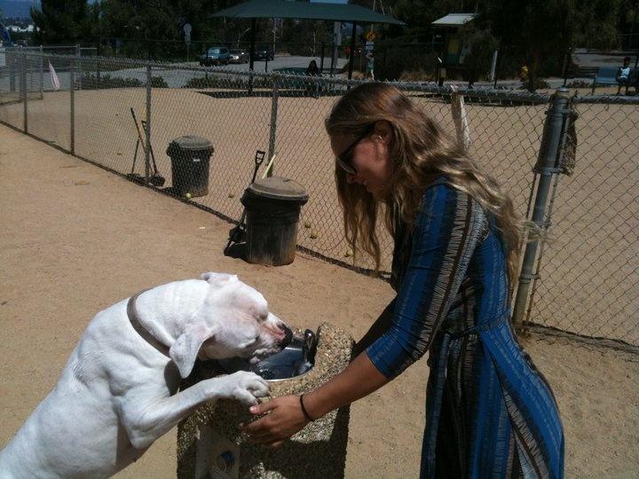 Ronda providing water for Mochi #ArmbarNation | RondaRousey.net