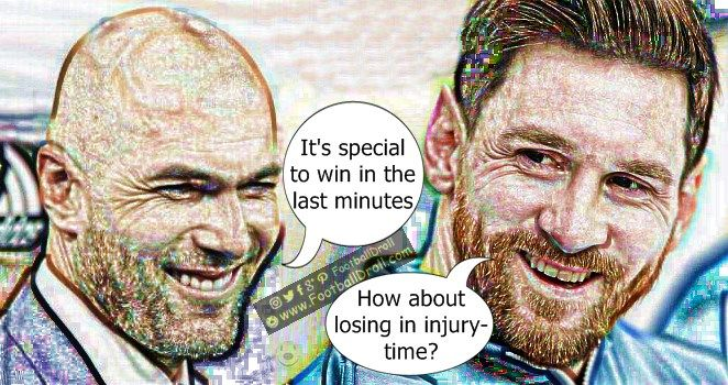 Zinedine Zidane Thrilled to Win in Last Minutes #Zidane #Messi #Ronaldo #Bale #Valencia #ElClasico #RealMadrid #Barcelona #HalaMadrid #FCBLive #ForçaBarça #LaLiga #CR7 #CL #Suarez #Neymar #Madrid #Barça #FCBarcelona #Pique #Jokes #Comic #Laughter #Laugh #Football #FootballDroll #Funny