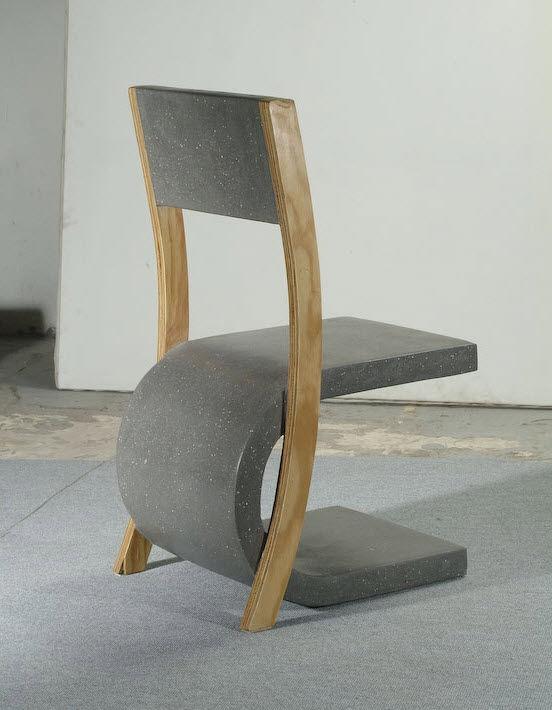 Contemporary concrete stool - PUZZLE - COMPACT CONCRETE