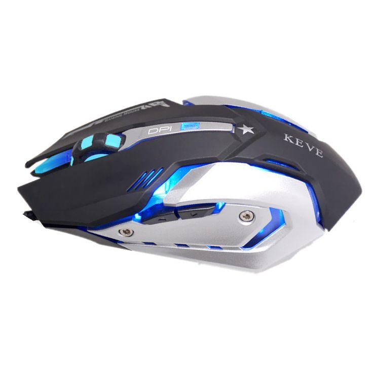 Kabel Makro Defintion 4-warna Pernapasan Cahaya Diam Diam Gaming Mouse Gamer Mice untuk PC Laptop Desktop