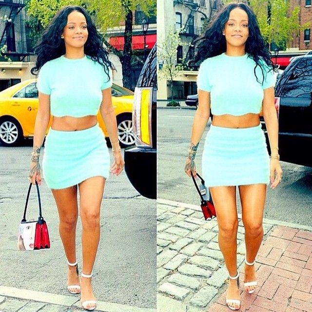 rihanna's photo on Ins... Rihanna's