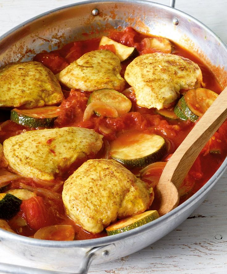 Curryhähnchen aus dem Ofen