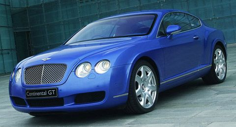 Biru 2005 Bentley Continental GT Mulliner
