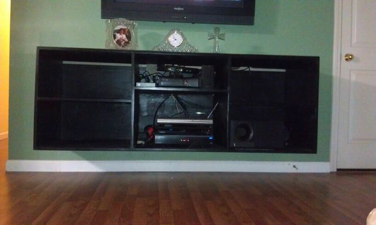 floating entertainment center what i have made