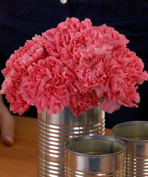 Skip elaborate decorations for a backyard party or barbecue: Make an inexpensive centerpiece. This video shows how to make an easy floral centerpiece.