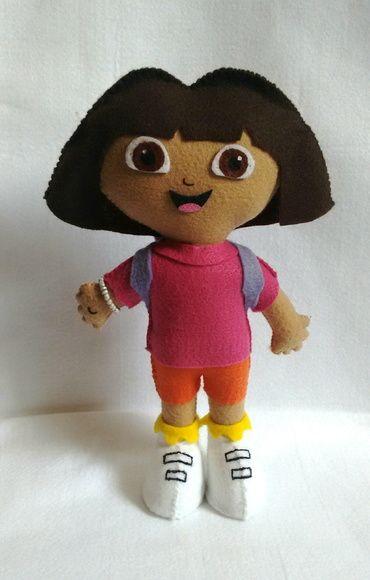 Boneca Dora Aventureira em Feltro
