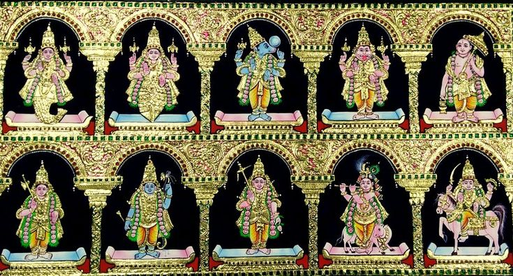 Dhasavatharam Tanjore Painting by Chola Impressions   Chola Impressions - Exquisite Tanjore Paintings, Indian Handicrafts & more