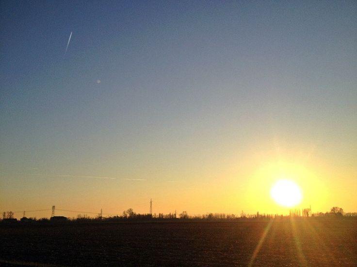 Sole al tramonto - inverno