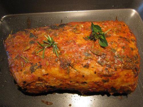 Schweinerücken mit Kräuterkruste (Niedrigtemperatur)   Hauptspeise Kochrezepte.de Rezept von biggimimi