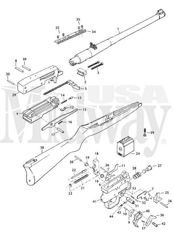 click here for an exploded parts diagram from fulton armory