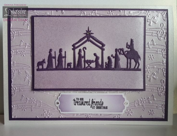 Crafter's Companion; Classique Christmas Collection Nativity Die Scalloped Tags Vintage Music folder Christmas sentimental stamp Cordination Card Centura Pearl card