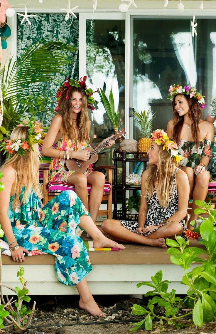девишник в стиле гавайской вечеринки фото самых юных членов