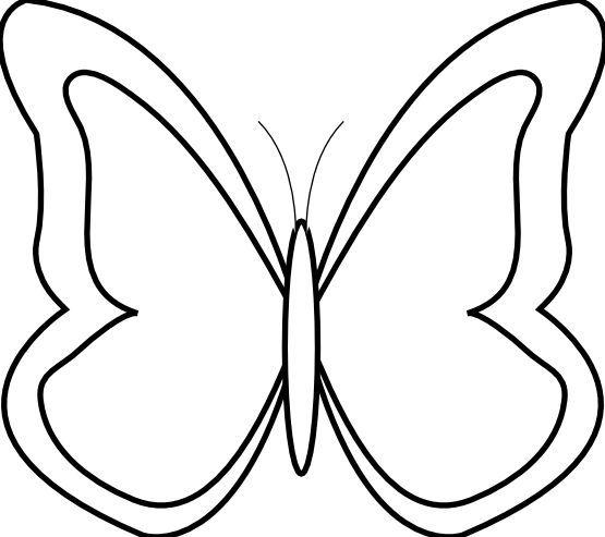 Butterfly Line Art Free