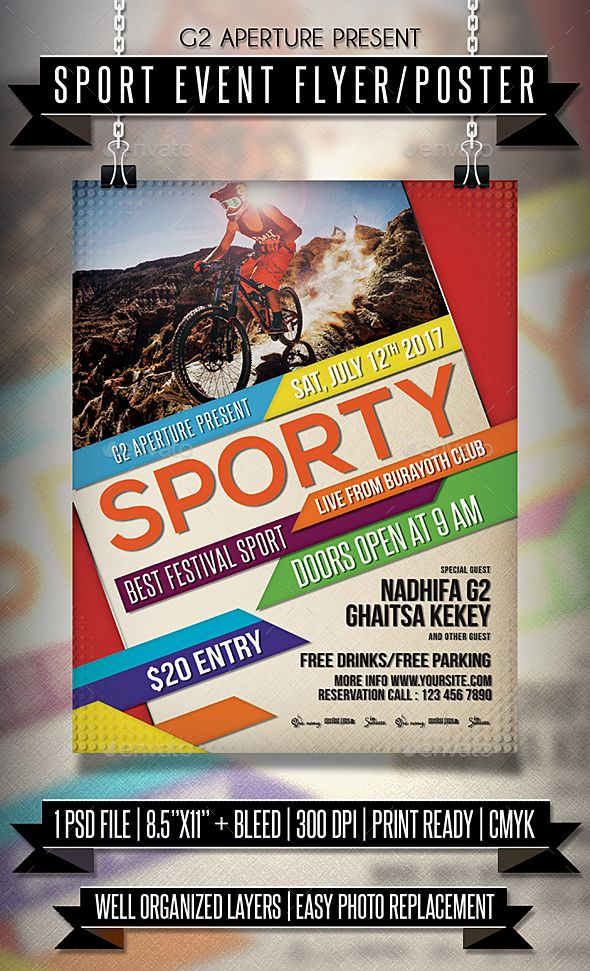 Sport Event Flyer / #Poster - Events #Flyers Download here: https://graphicriver.net/item/sport-event-flyer-poster/20113663?ref=alena994