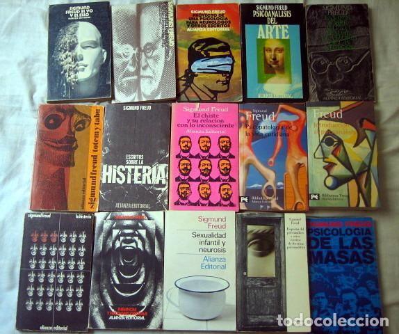 Libros de segunda mano: Lote de libros de Sigmund Freud. 15 lbros editorial alianza - Foto 2 - 91590380