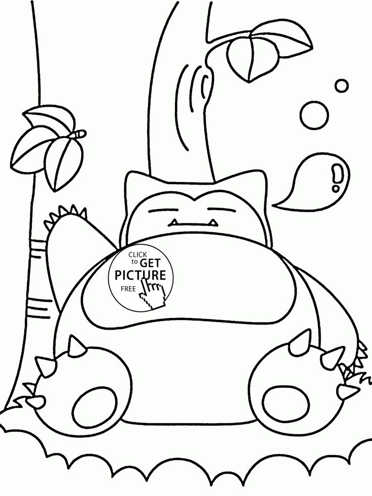 Big Pokemon Snorlax Coloring Pages For Kids Pokemon
