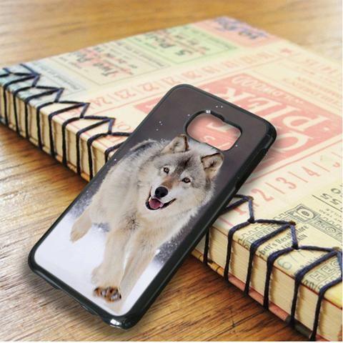 Wolf Run On White Snow Samsung Galaxy S6 Edge Plus Case