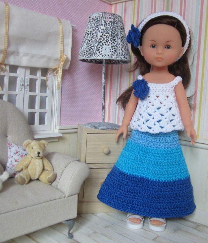80- FICHE PATRON Tenue Miss Papillon au crochet pour poupée Les Chéries de Corolle ou Paola Reina : Jeux, jouets par atelier-crochet