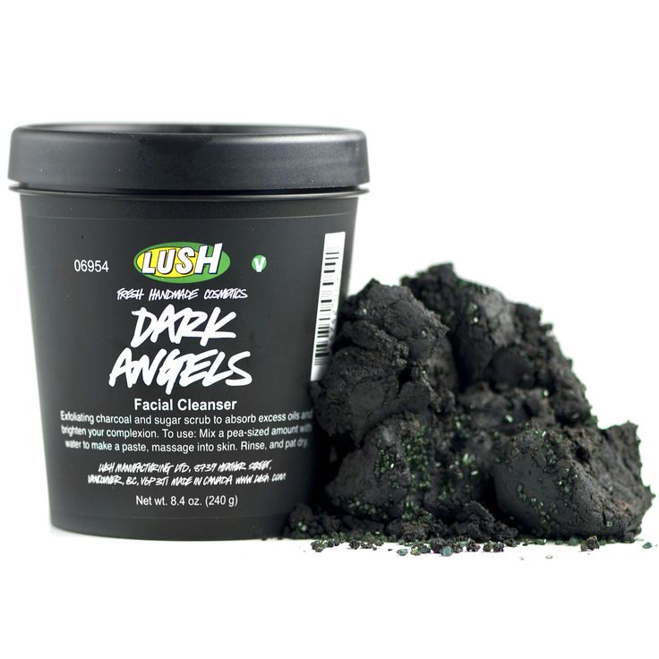 Dark Angels Velvety black sugar cleanser. Black sugar and charcoal gently exfoliate and absorb excess oils to leave dull, oily or acne-prone skin feeling fresh and matte. Even oily skin can be sensitive, so we've made this one soft and soothing to calm redness and irritation, too.