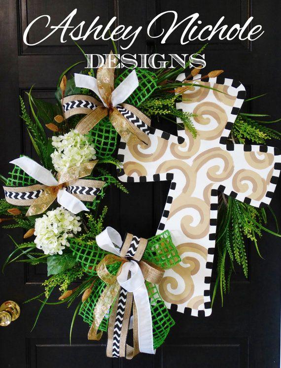 Cross Wreath Easter Door Hanger By DesignsAshleyNichole