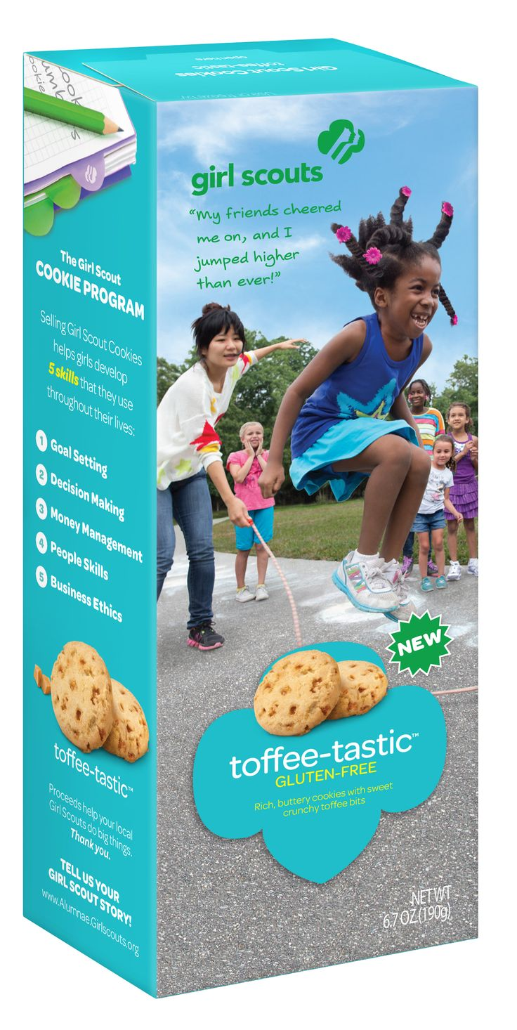 Girl scout cookies box