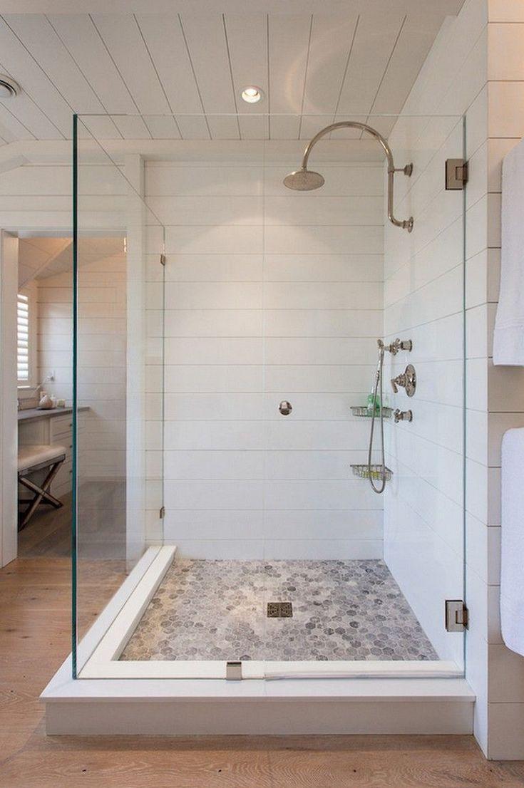 25 Awesome Farmhouse Bathroom Tile Shower Ideas (W…