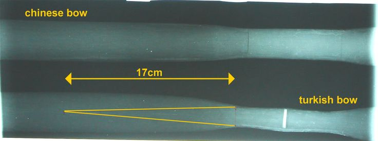X-ray images of a Turkish and a Chinese composite bow by Stefan Demeter