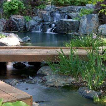 Garden stream design construction water feature for Water garden construction