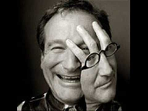 """Robin Williams & Bobby McFerrin perform """"Come Together."""" It was surprising and very good."""