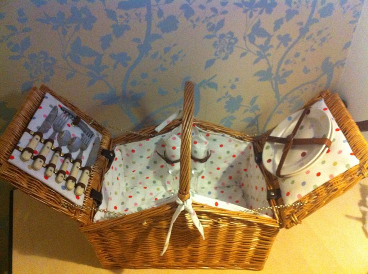 Finished picnic basket