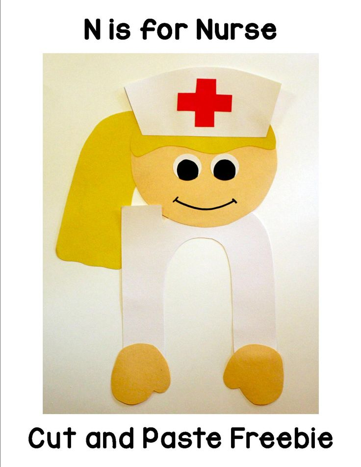 N is for Nurse Cut and Paste Freebie that includes patterns and directions.