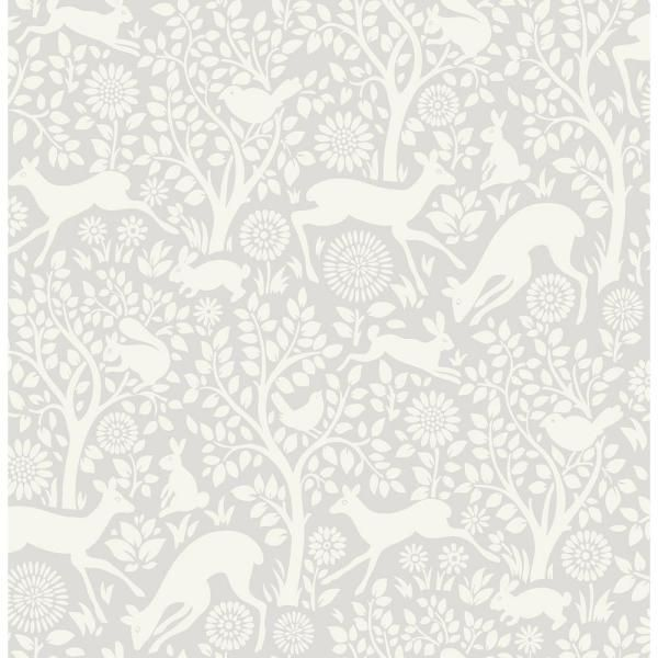 Nuwallpaper 216 In X 20 5 In Grey Merriment Peel And Stick Wallpaper Nus3677 The Home Depot In 2021 Farmhouse Wallpaper Brewster Wallpaper Forest Wallpaper