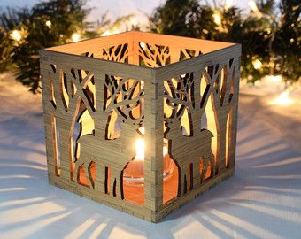 Christmas Tea Light Lantern 5th Anniversary Votive by BeamDesigns
